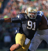 Sheldon Day was the seventh and final Notre Dame player to be drafted during the NFL Draft on Saturday. Photo/Jonathan Daniel (Getty Images)
