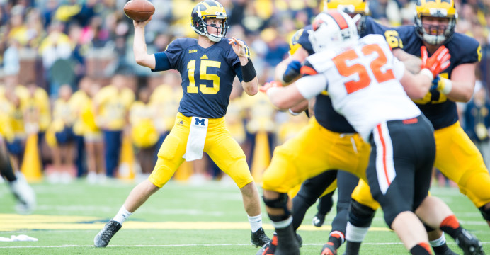 Former Michigan QB Jake Rudock was drafted during the sixth round of the NFL Draft by the Detroit Lions. Photo/University of Michigan